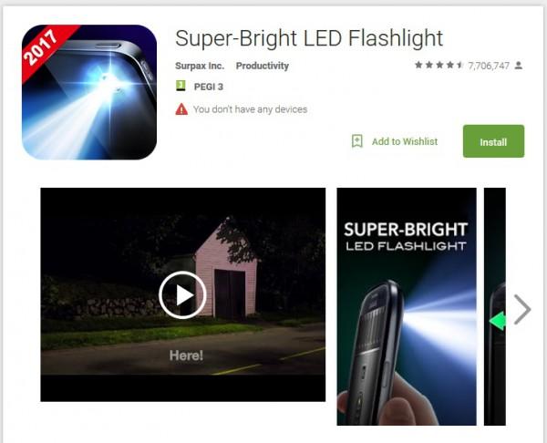Фенерче за смартфон