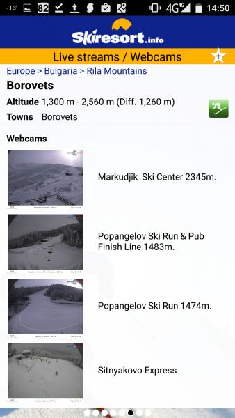 Камери предаващи на живо от ски курортите.