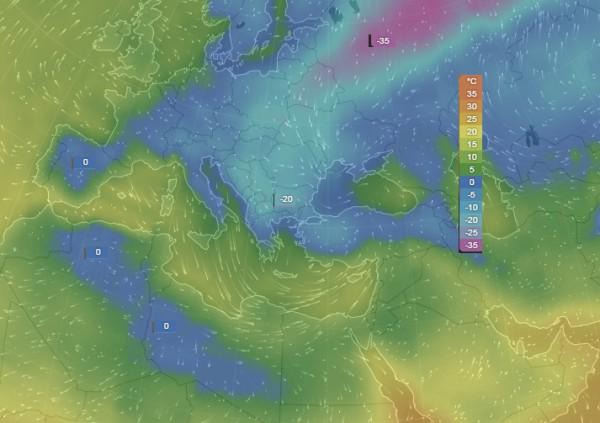 -20 градуса на 8 ми Януари 2017