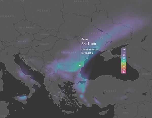 Прогноза за времето с REVO 555